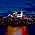 Nubble Light by Larry Richardson