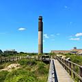 Oak Island Lighthouse At Caswell Beach by Jill Lang