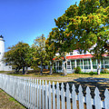 Ocracoke Lighthouse, Ocracoke Island, Nc by Greg Hager
