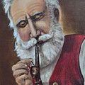 Old German With Pipe by Donald Paczynski