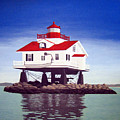 Old Plantation Flats Lighthouse by Frederic Kohli