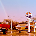 Old Signs At The Mother Road - Standard Oil And Motel - Route 66 by Carlos Alkmin