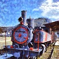 Old Steam Train In Nafplio Town by George Atsametakis