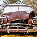 Old Vintage Plymouth Automobile In The Woods Covered In Snow by Alex Grichenko