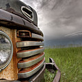 Old Vintage Truck On The Prairie by Mark Duffy