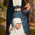 Old Woman At Prayer With St. Anne by Hans Memling
