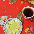 On The Eve Of Christmas. Tea Drinking With Cheese. by Mariia Kilina