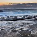 On The Ledge - Sunrise Seascape by Merrillie Redden