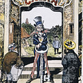 Open Door Cartoon, 1900 by Granger
