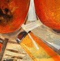 Orange Still Life by Evguenia Men
