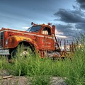 Orange Truck by Dave Rennie