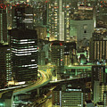 Osaka At Night by Oleg Volkov