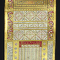 Ottoman Calendar, 19th Century by Wellcome Images