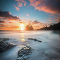 Pacific Sunset At Olympic National Park by William Freebilly photography