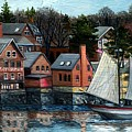 Paint Factory, Gloucester, Ma by Eileen Patten Oliver