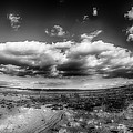 Panorama Of A Valley In Utah Desert With Blue Sky by Alex Grichenko