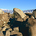 Panoramic Image Of Petroglyphs At Three by Panoramic Images