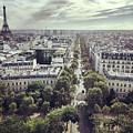 Paris Cityscape From Above, France by Anna Bryukhanova