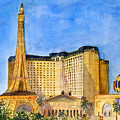 Paris Hotel And Casino by Vicki  Housel