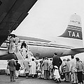 Passengers Boarding Airplane by Underwood Archives