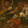 Peasant Party Drink by Adriaen Brouwer