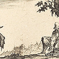 Peasant Removing His Shoe by Jacques Callot