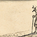 Peasant With Shovel On His Shoulder by Jacques Callot