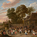 Peasants Dancing And Feasting by David Teniers the Younger