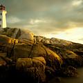 Peggys Cove Lighthouse Nova Scotia by Nick Jene