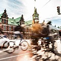 People Cycling In Copenhagen by Leonardo Patrizi