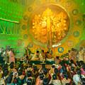 People Enjoying Inside Durga Puja Pandal Durga Puja Festival by Rudra Narayan  Mitra