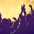 People With Hands Up In Night Club by Michal Bednarek