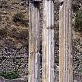 Pergamon Asklepion Colonnade by Bob Phillips