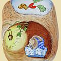 Peter Rabbit Watercolor Illustration I by Irina Sztukowski