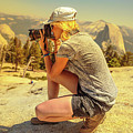 Photographer On Sentinel Dome by Benny Marty