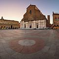 Piazza Maggiore And San Petronio Basilica In The Morning, Bologna, Emilia-romanga, Italy by Andrey Omelyanchuk