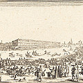 Piazza Santa Croce, Florence by Jacques Callot