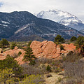 Pikes Peak From Red Rocks Canyon by Steve Krull