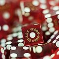 Pile Of Dice At A Casino, Las Vegas, Nevada by Christian Thomas