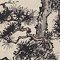 Pine by Zhang Daqian