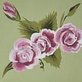 Pink Miniature Roses by Deborah Christensen