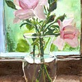Pink Roses by Ena Carroll