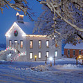 Pioneer Church At Christmas Time by Utah Images