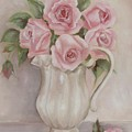 Pitcher Of Roses by Chris Hobel
