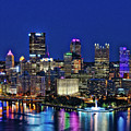 Pittsburgh Night Skyline by John Greim