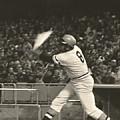 Pittsburgh Pirate Willie Stargell Batting At Dodger Stadium  by Jamie Baldwin