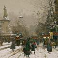 Place De La Republique In Winter by MotionAge Designs