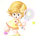 Playing Tennis by Laura Greco