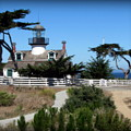 Point Pinos Lighthouse In Pacific Grove, California by Joy Patzner