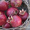 Pomegranates In A Basket by Inga Spence